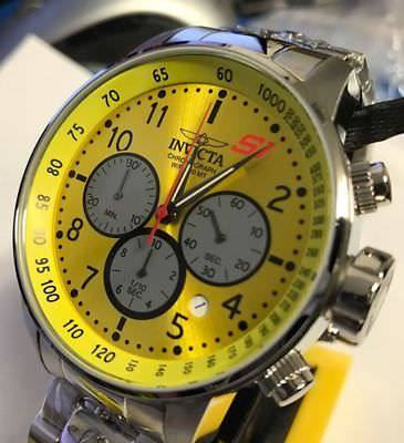 Invicta 23085 Yellow S1 Rally GPX Quartz 48mm Chronograph Stainless Steel Watch