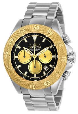 Invicta Speedway 22399 Men's Gold Tone Round Chronograph Date Analog Watch