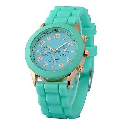 Zodaca Mint Green Analog Quartz Silicone Jelly Sports Watch