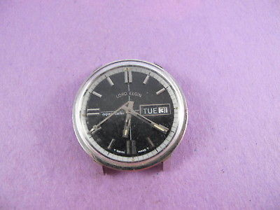 LORD ELGIN VINTAGE MENS STEEL AQUAMASTER AUTOMATIC DIVERS WATCH NO RESERVE