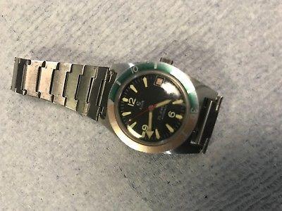 Vintage Elgin 25j Broad Arrow Hand Divers Watch