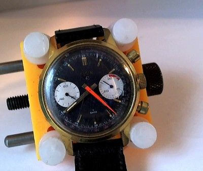Vintage ELGIN CHRONOGRAPH T SWISS MEN'S MANUAL WRISTWATCH -WORKING CONDITION
